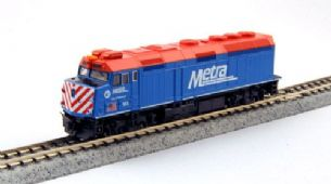 Kato (USA) 176-9103 EMD F40PH Chicago Metra No.163 City of Elmhurst